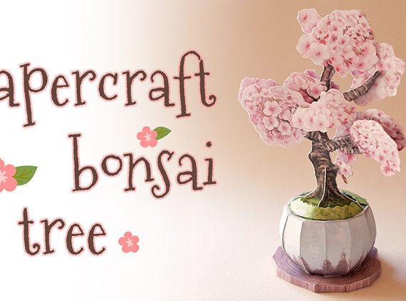 Paper Bonsai tree