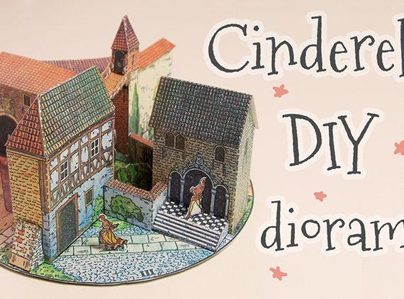 Miniature Cinderella diorama