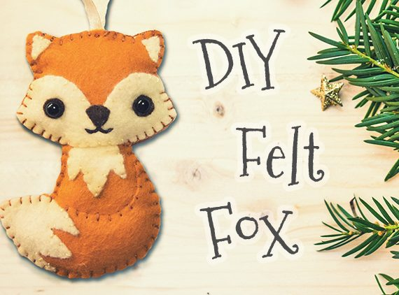 Woodland Felt Fox Ornament