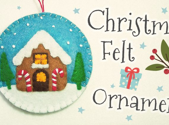Christmas Gingerbread House Felt Ornament
