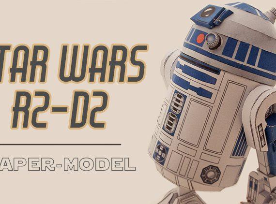 R2-D2 paper model (star wars)