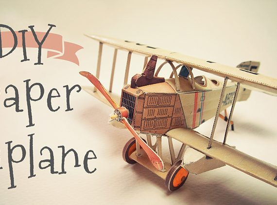 French biplane Breguet 14 papercraft