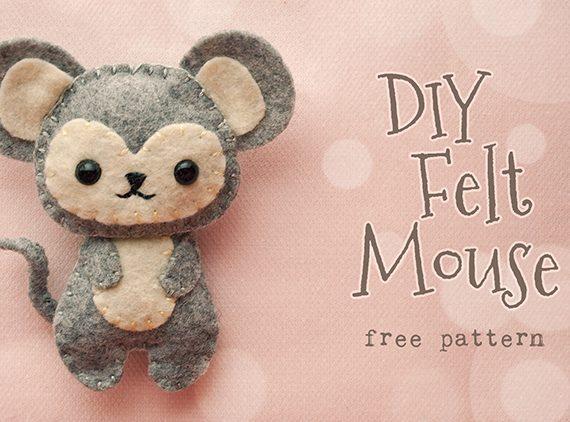 Woodland Felt Mouse!