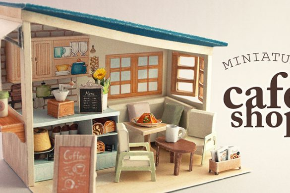 Miniature Café Diorama