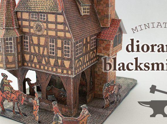 Medieval Blacksmith Diorama